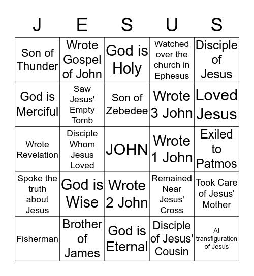 Revelation Bingo Card