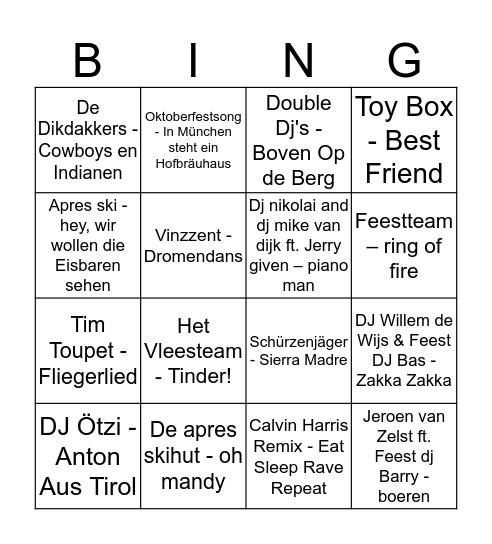 Muziekbingo Card
