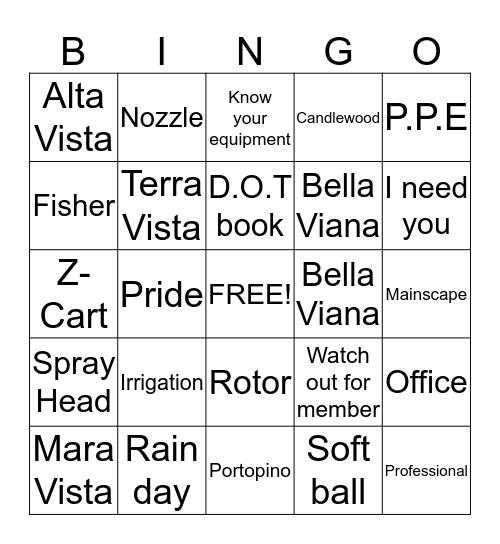 Mainscape Safety Bingo Card
