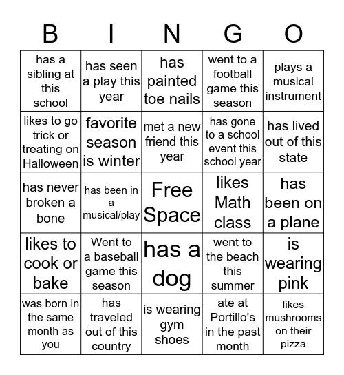 Snowflake Fall Retreat-Find someone who... Bingo Card