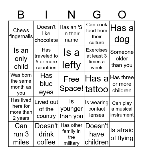 Spouses Are Awesome Bingo Card