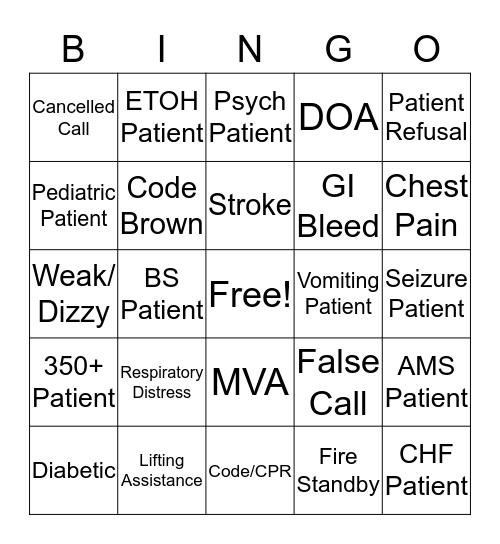 SCEMS Bingo Card