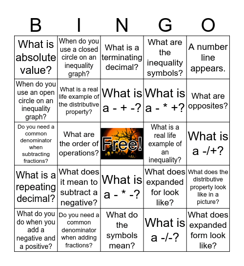 ATN Presentation Bingo Card