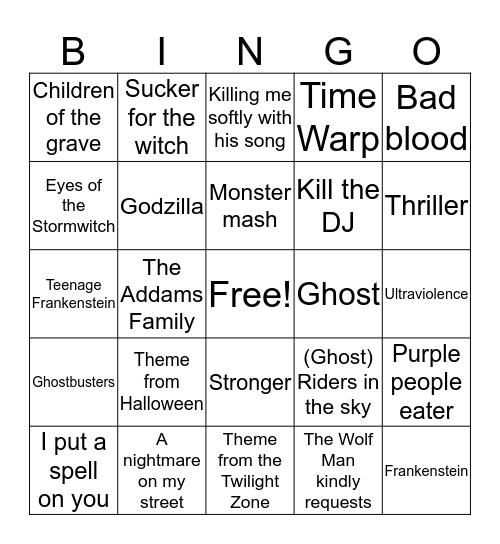 Octoboo Bingo Card