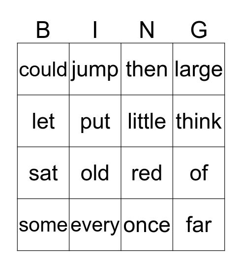 Let's Play!! Bingo Card