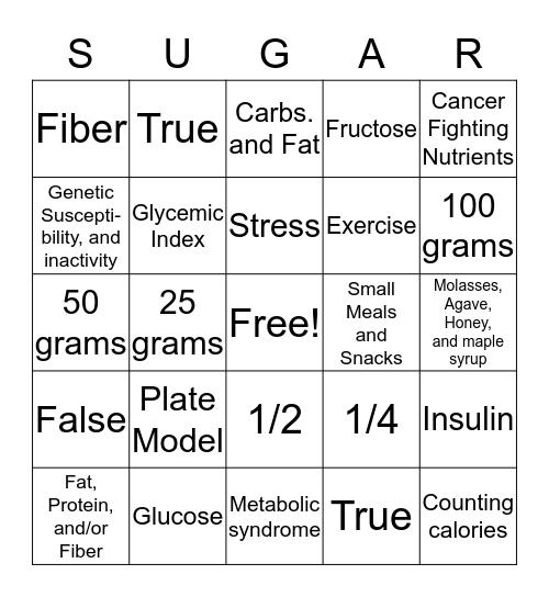 How Sweet It Is  Bingo Card