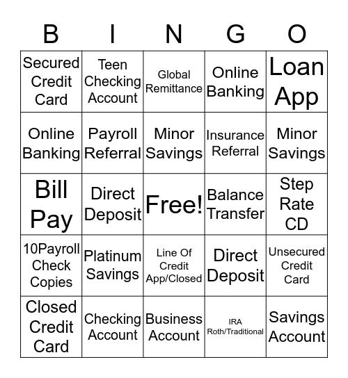 Keystone Bingo Card