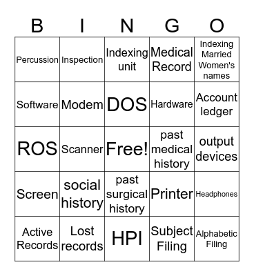 Module 2 Session 2 Bingo Card