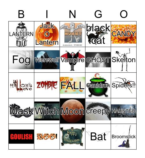 Crossroads Halloween Bingo!! Bingo Card