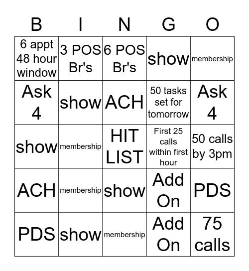 Brennan Bingo! Bingo Card