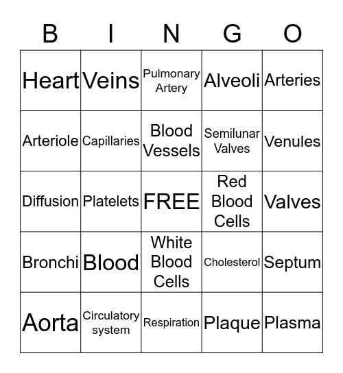 Have A Heart Bingo Card