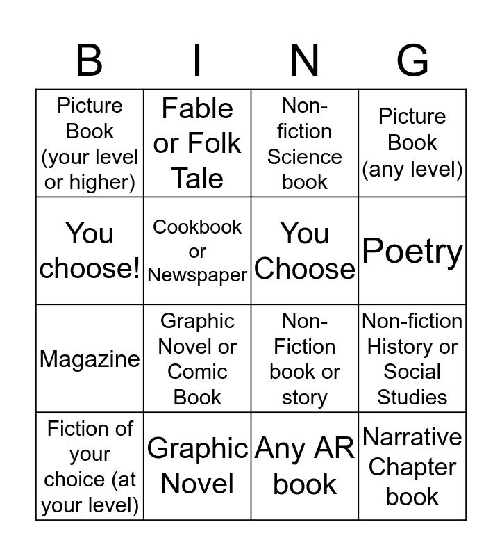 AR BING! Bingo Card