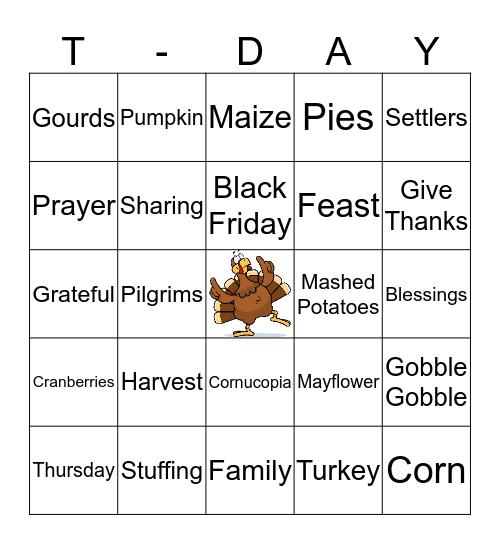 Turkey Bingo Card