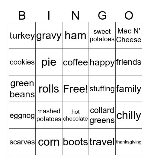 november is here! Bingo Card