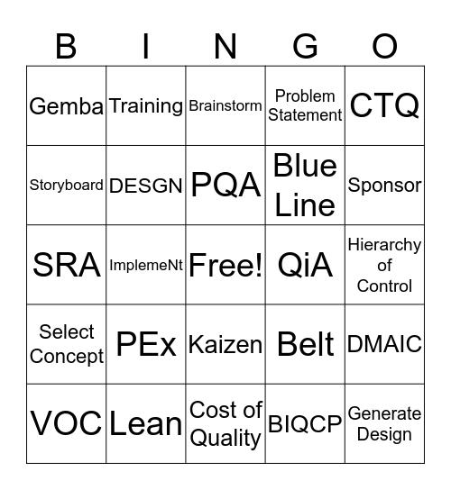 PEx Council November 2015 Bingo Card