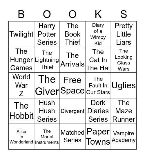 BOOKS Bingo Card