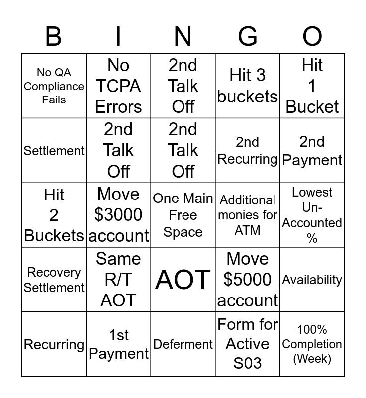 """Team Webb """"Fall"""" Bingo Card"""