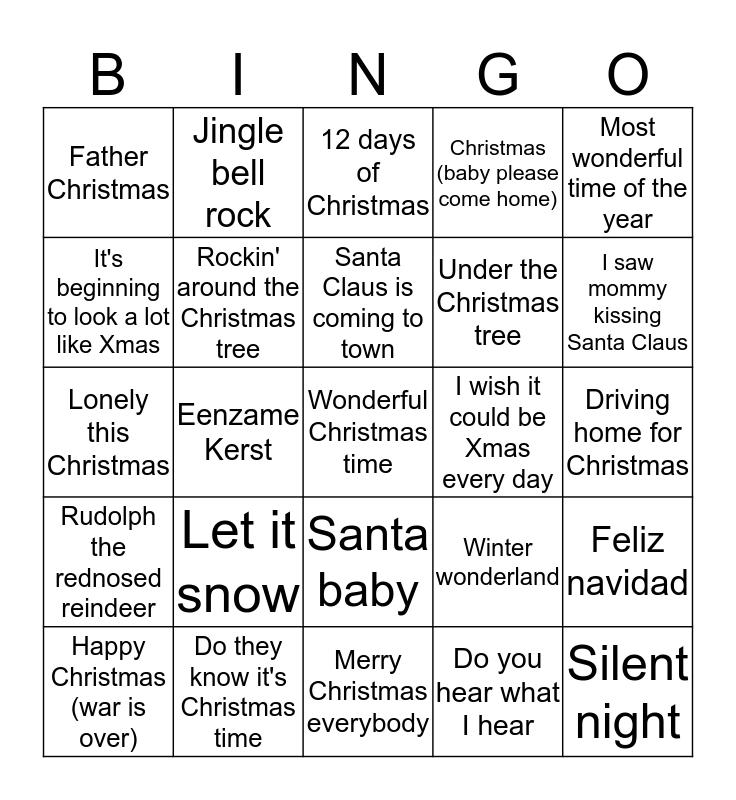 DPC's Grote Kersthit Bingo Card