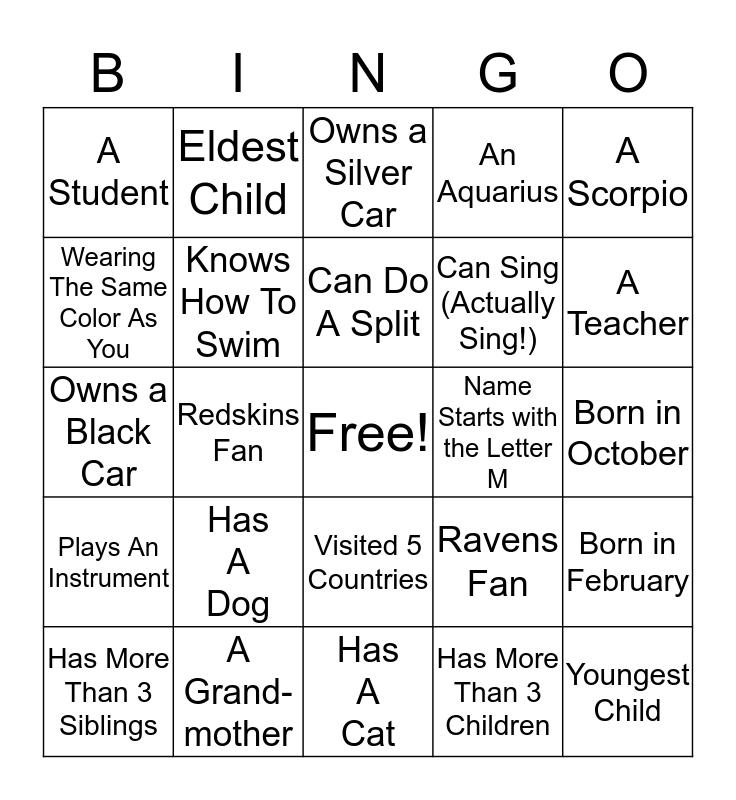 Aisha's Baby Shower Bingo Card