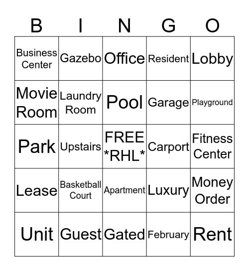 Holland Lake Bingo Fun!!! Bingo Card