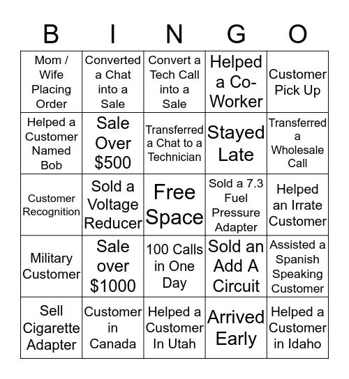 HOLIDAY BINGO  Bingo Card