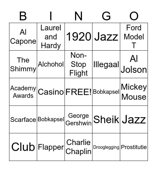 Denni's Club Bingo Card