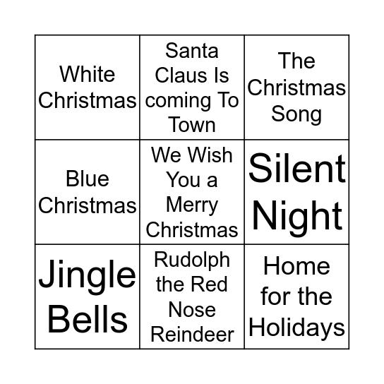 Name That Christmas Tune Bingo Card