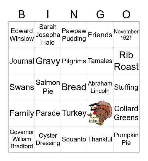 Thanksgiving Bingo  Bingo Card