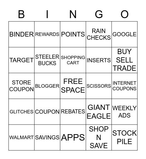 JEN'S COUPONER BINGO!!!!! Bingo Card