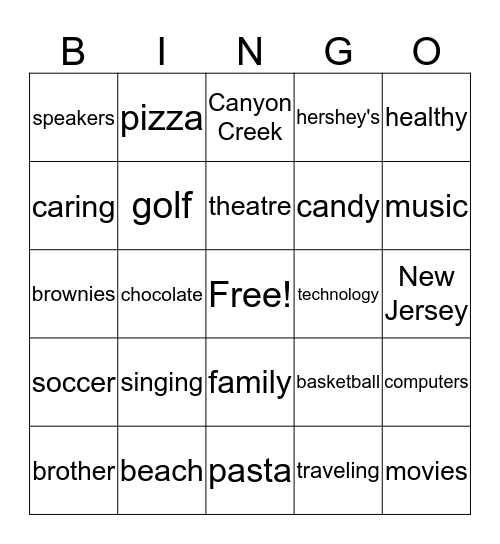 ALL ABOUT DEVIN Bingo Card