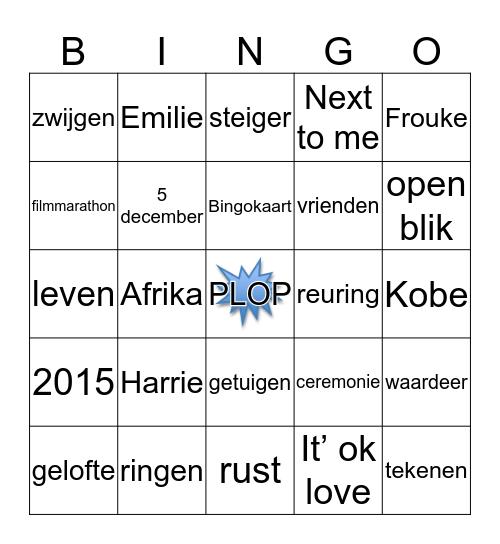 Tim & Karlijn 05-12-2015 Bingo Card