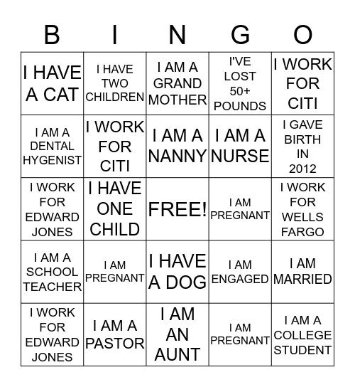 BABY BENSON Bingo Card