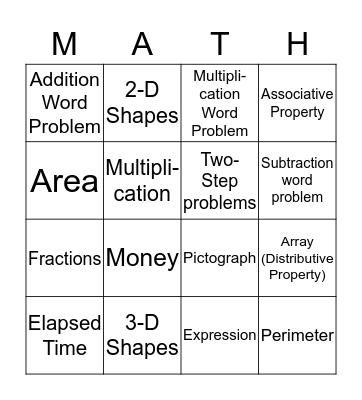 CBA Review  Bingo Card