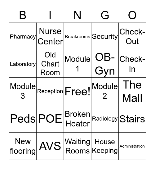 MONTEBELLO MOB BINGO! Bingo Card