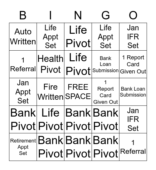 FANTASTIC FRIDAY CHALLENGE Bingo Card