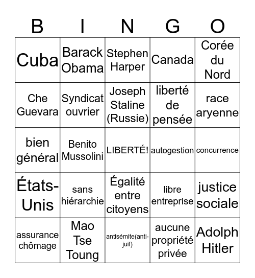 Bingo-Idéo Bingo Card