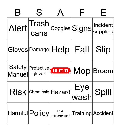 HEB SAFETY BINGO Card
