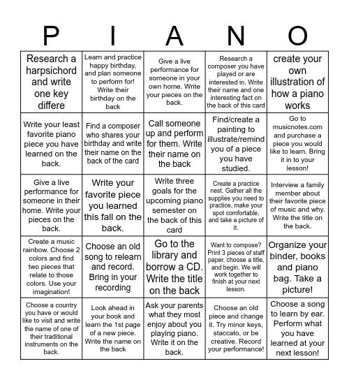 Holiday Bingo Game!! Bingo Card