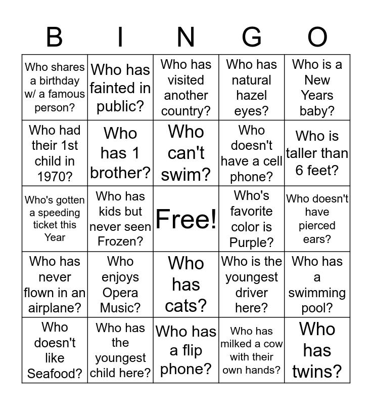 I GOT IT Bingo Card