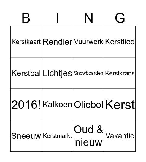 4M2 Kerstbingo! Bingo Card