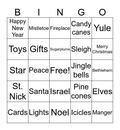 Christmas Eve Bingo Card