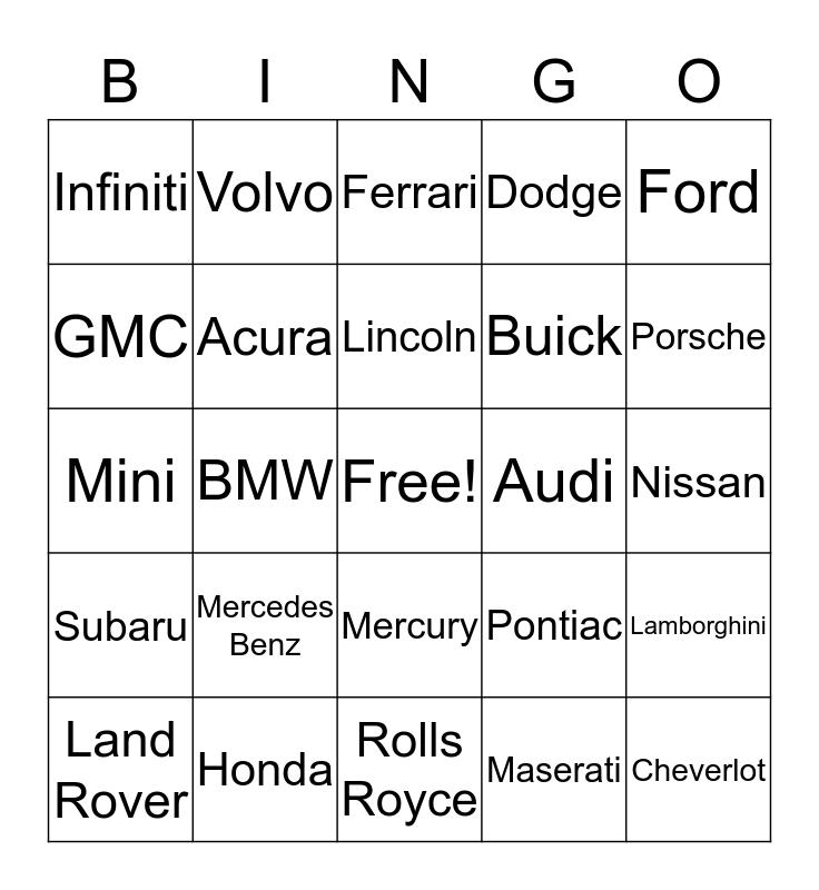 Bran's 21st Bingo Card