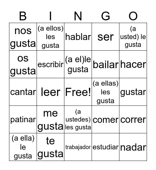 midterm(3) Bingo Card