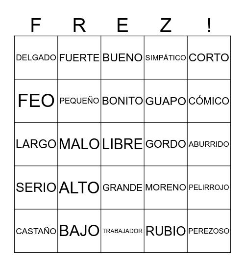 Herm's Bingo Card