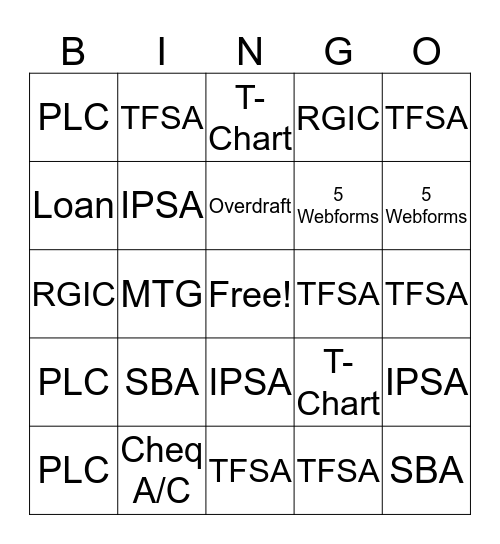 OUT BOUND INCENTIVE Bingo Card
