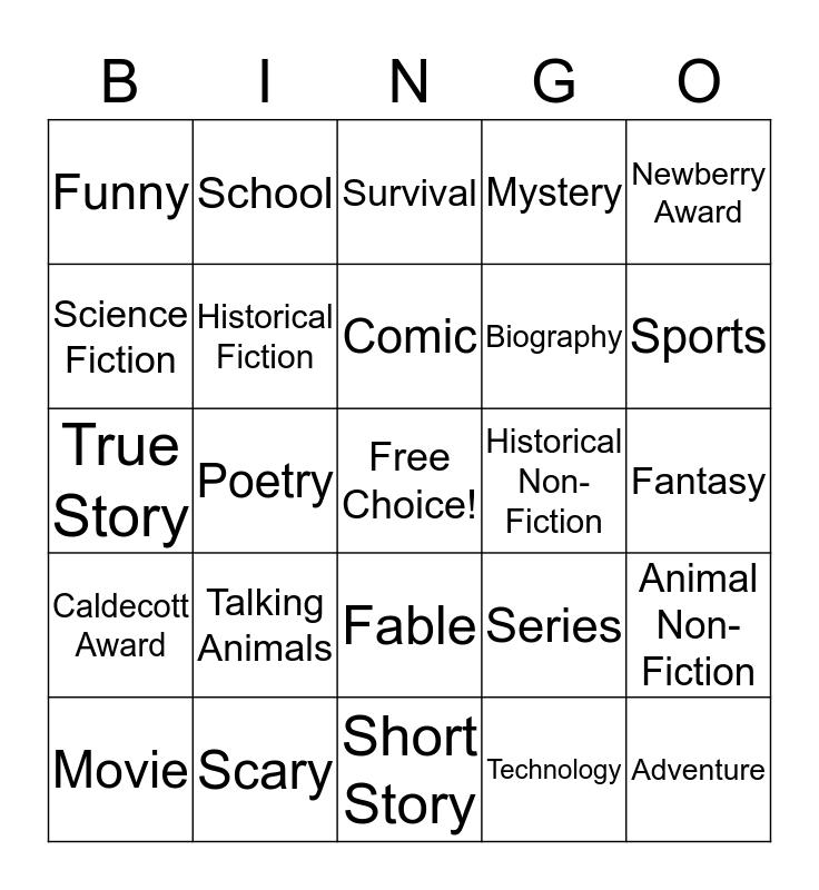 BOOK BINGO! Bingo Card