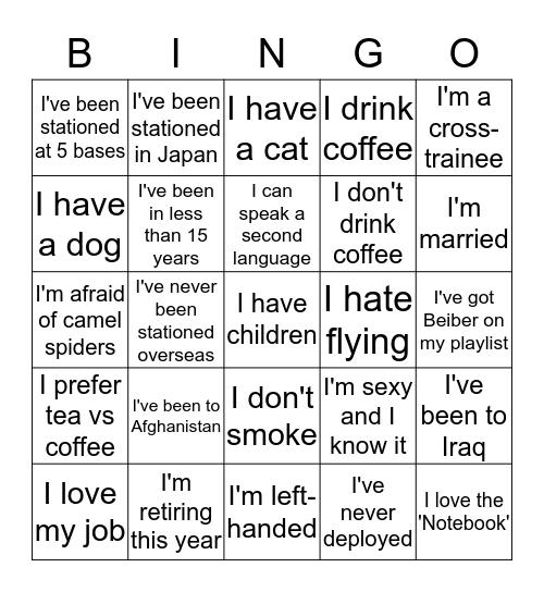 Top 3 Icebreaker Bingo Card