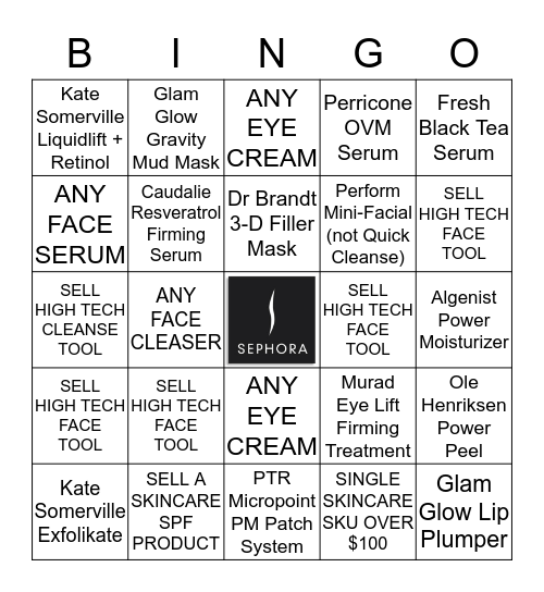 SKINCARE IS SCIENCE, NOT FICTION Bingo Card
