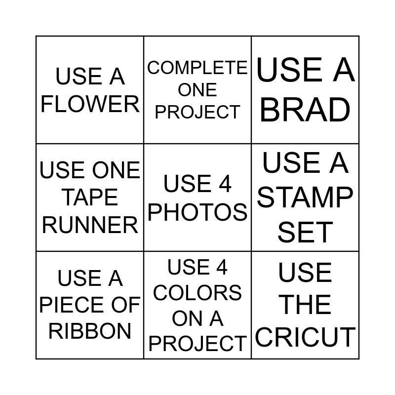 SWEET RETREAT Bingo Card