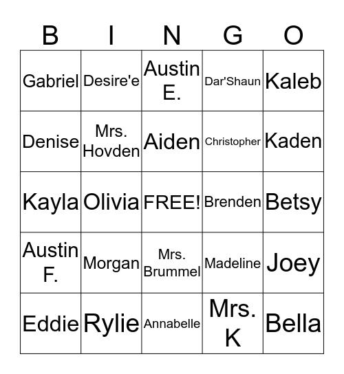 Secret Admirer Celebration  Bingo Card